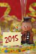 canvas print picture - Neujahr 2015 mit Schornsteinfeger als Talisman