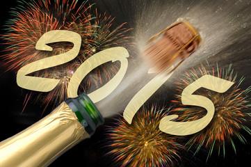 Champagner an Silvester 2015