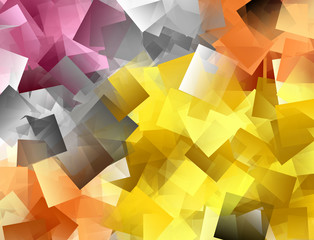 Colourful mosaic background in red, yellow and grey