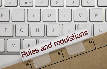 Rules and regulations. Keyboard