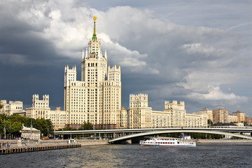 Moscow, Russia. Living house. One of the seven famous buildings.