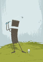 Golfer. A person playing golf
