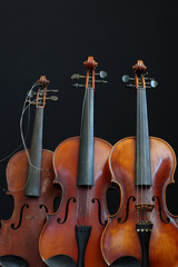 three violin