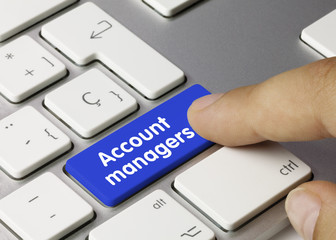 Account managers. Keyboard