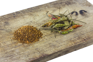 dry pepper on cutting board