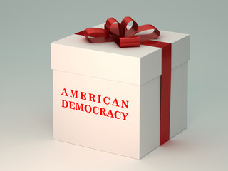 present  box with american democracy title