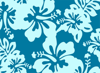 Blue floral pattern - decorative element