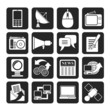 Silhouette Communication and Technology icons