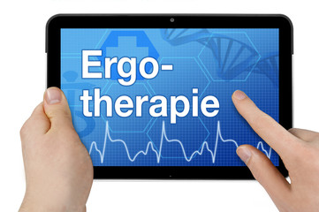 Tablet mit Interface und Ergotherapie
