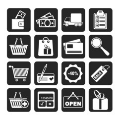 Silhouette Shopping and website icons