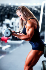 Woman bodybuilder