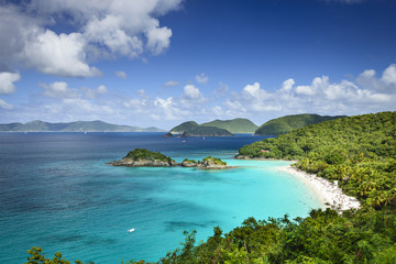 St. John, US Virgin Island at Trunk Bay