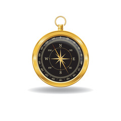Gold Compass with windrose