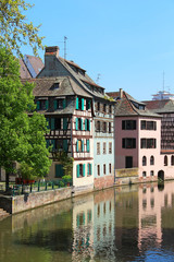 Beautiful old houses in Strasbourg, France