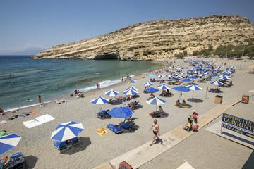Matala beach on Crete