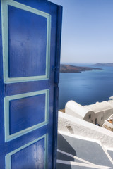 Travel in Greece.Santorini's postcard.