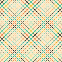 Retro abstract rhombus seamless pattern