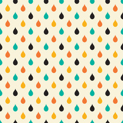 Retro drop seamless pattern