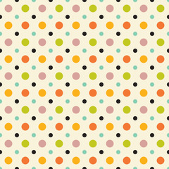 Retro Polka Dot seamless pattern