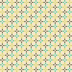 Retro abstract cross seamless pattern