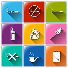 Icons for no smoking