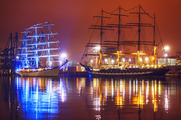 Night view of Tall Ships Regatta