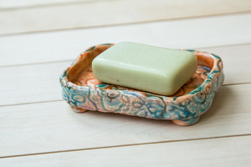 soap in a soap-dish