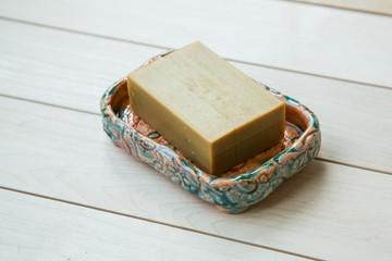 soap in a soap-dish
