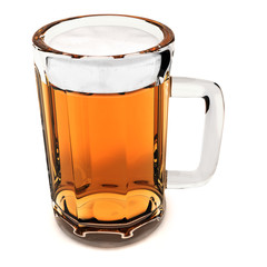 Beer mug isolated