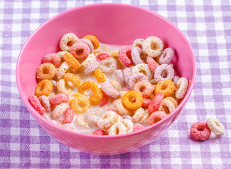 Colorful funny breakfast cereals