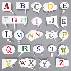 alfabeto comic esp