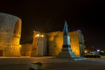 Square in front the sea in Otranto Apulia Italy