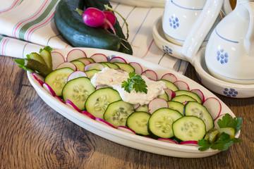 zucchini and rapanelli slices