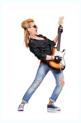beautiful rocker girl