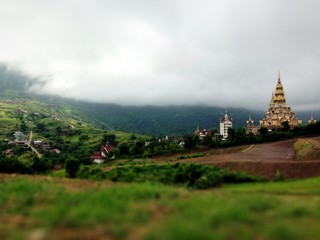 Beautiful pagoda on the mountain