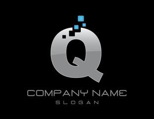 Techno letter Q