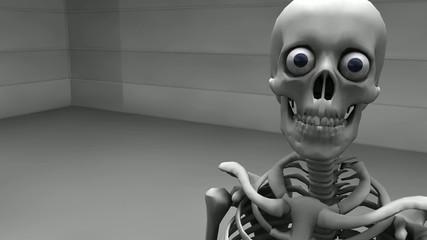 何かしゃべっている骸骨