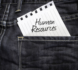 Human Resources written on a peace of paper