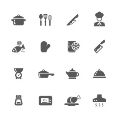 Kitchen icons set.