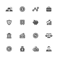 Finance icons set.