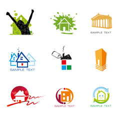 Logo element vector real estate