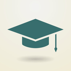 Simple graduation cap icon