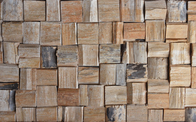 old wood cubic texture background