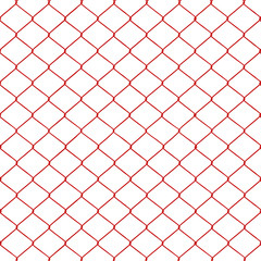 Red chainlink fence