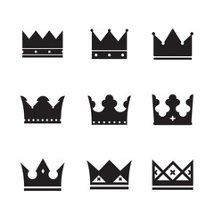 vector black crowns