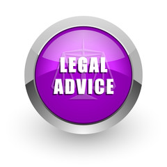 legal advice pink glossy web icon