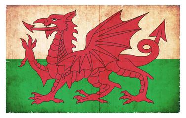 Grunge-Flagge Wales