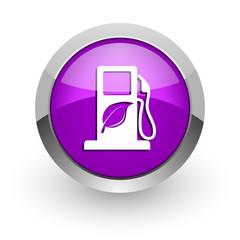 biofuel pink glossy web icon