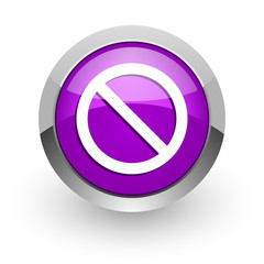access denied pink glossy web icon