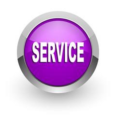 service pink glossy web icon